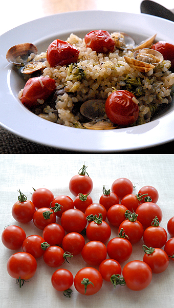 トマトとアサリの発芽玄米リゾット