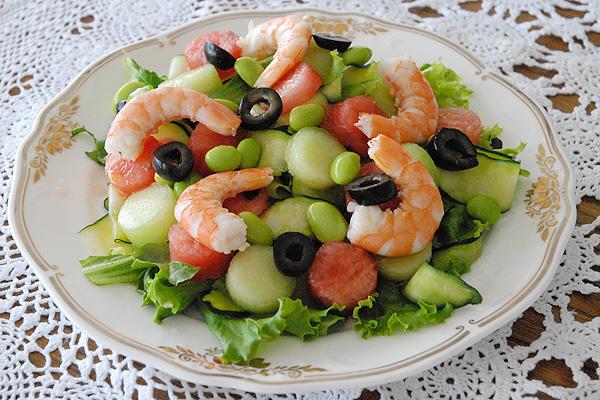 南フランス風 フルーツと海老の夏サラダ