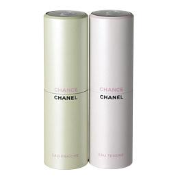 シャネル チャンス オー (右)タンドゥル ツィスト&スプレイ (左)フレッシュ ツィスト&スプレイ 各20ml(リフィル2本付き) 各¥10,000