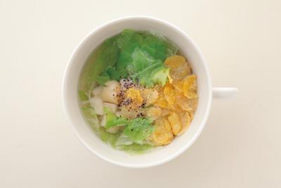 塩味☆ホタテ×レタスのスープ
