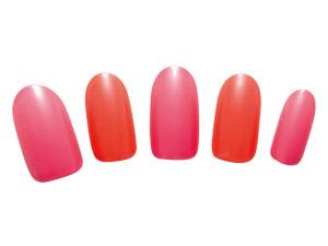 オレンジ×ピンクのキャンディーカラーでシンプルPOP