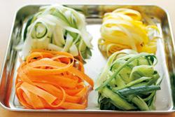 野菜麺のアボカドパスタ