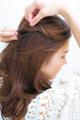 カチューシャ風の前髪がボヘミアン可愛いアレンジ