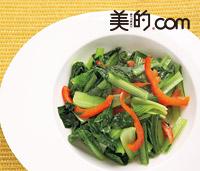 葉野菜の蒸し焼き