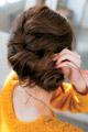 編み込み&3つ編みでつくるまとめ髪