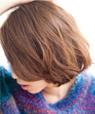色っぽいくせ毛風巻髪ショートボブ