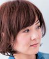 【2】ぱっつん前髪をサイドに流してスイング