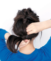 くるりんぱで作る知的カジュアルヘア