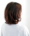 眉上前髪×カービィフォルムで立体感ボブ