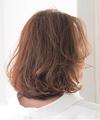 フリンジ風前髪×明るめカラーボブ