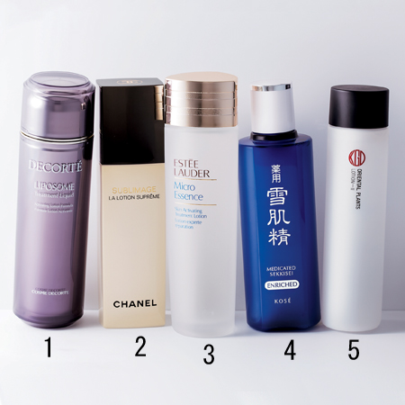 化粧水のアイテム選び