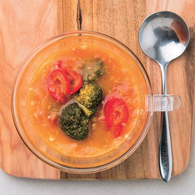 見た目もキレイな野菜スープ