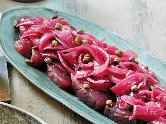カツオと紫玉ねぎの アグロドルチェ