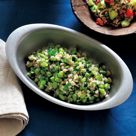 押し麦と枝豆のタブレ