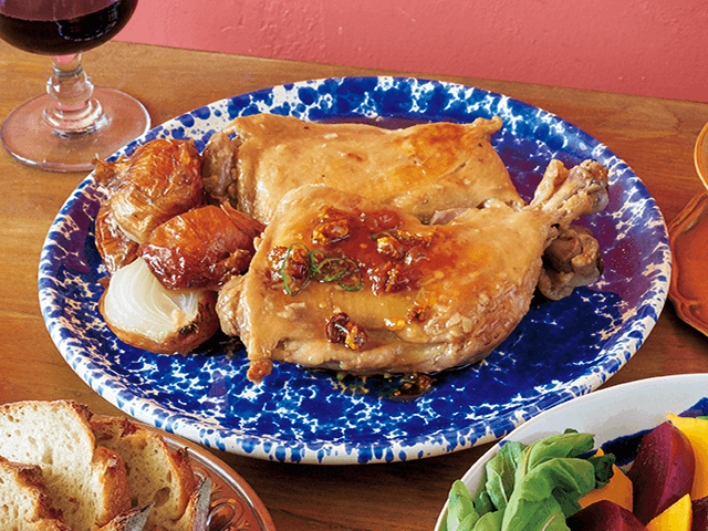 骨つき鶏もも肉のロースト