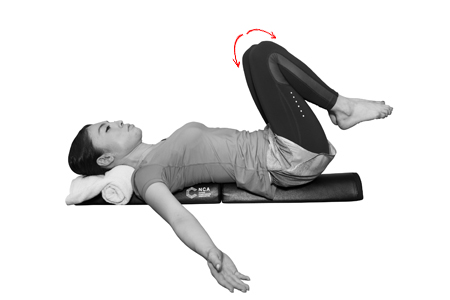 ②骨盤を前後に動かして、傾きを調整!