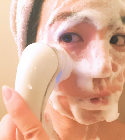 毛穴ビフォーアフター!MTGの音波洗顔ブラシの使い方
