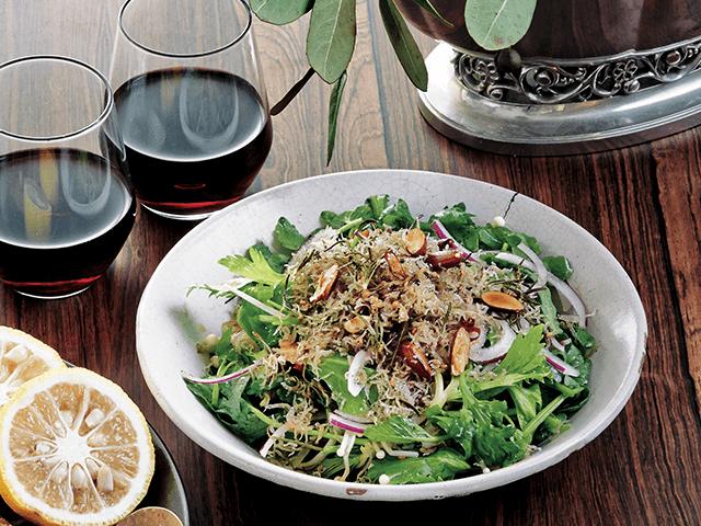 香り野菜のジャコふりかけサラダ