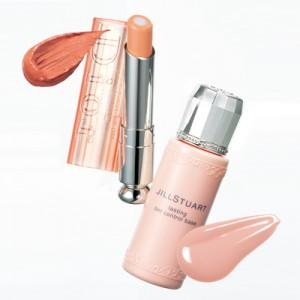 ディオールのオレンジ×ジルスチュアートのピンクの2色使いで顔色アップ
