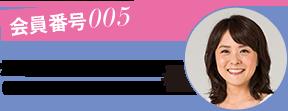 会員番号005 畑中美奈さん (37歳・混合肌・販売)