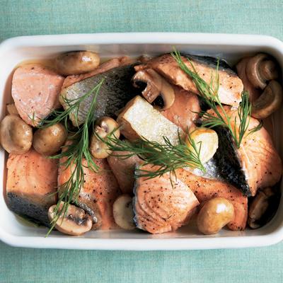 サケの低温オイル煮