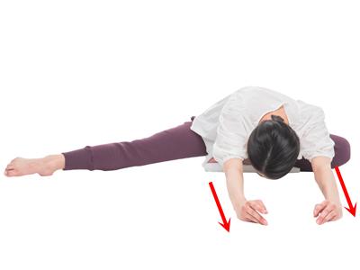 床バレエストレッチで下半身を柔らかく!つづき