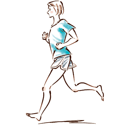 筋肉質さんはランニングで新陳代謝の促進を