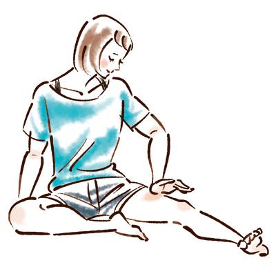 固まった筋肉をもみほぐすマッサージ