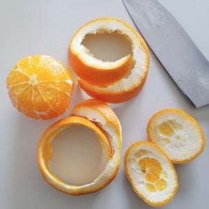 ケールとオレンジ、ミニトマトのバルサミコサラダ