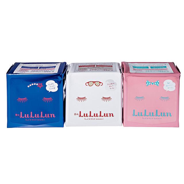 ルルルン|フェイスマスク 青のルルルン(左)白のルルルン(中)赤のルルルン(左)