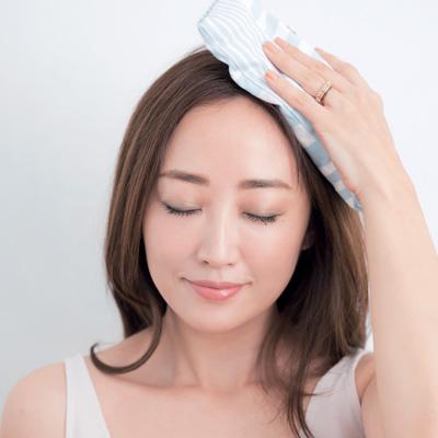 温めることも大切! 神埼恵さんの頭皮ケア方法