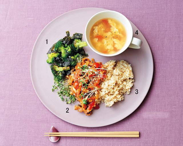 ブロッコリーと韓国海苔の炒めもの