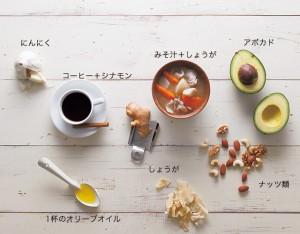 体を温め、血流促進する食材を多くとって!