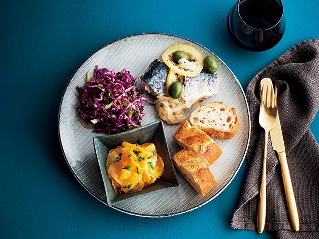 (左上)紫キャべツとセロリのクミンマリネ