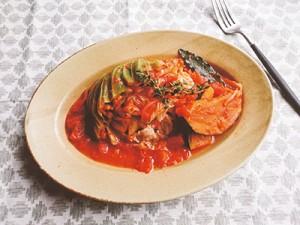 燃えやすい体をつってダイエット!【キャべツと豚肉の塩麹トマト煮】