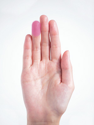 手のひらでじっくり、が原則