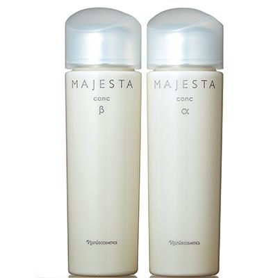 ナリス化粧品 マジェスタ|(右)コンクα(酵素アルカリ) (左)コンク β(iPF)