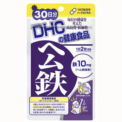 (上)DHC ヘム鉄 30日分 60粒 ¥450/(下)TAKAKO STYLE the Fe 60カプセル ¥5,700