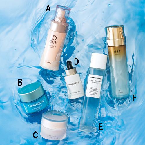 しっとり肌が一日中持続する化粧水ローション・保湿クリームも