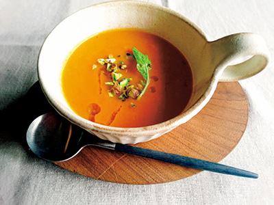 にんじん&玉ねぎを加えたジンジャースープ