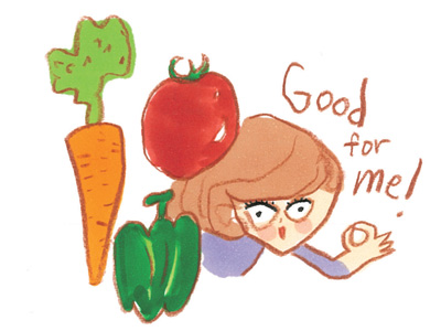 """""""カリウム""""の多い有色野菜をたくさん食べる!"""