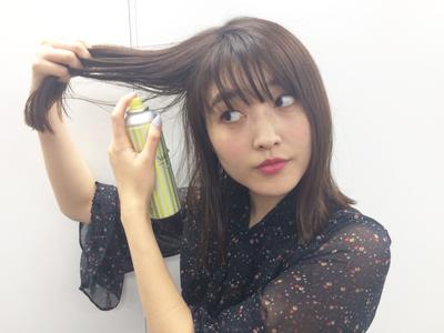 量が多くて広がる髪をスッキリ見せるテク