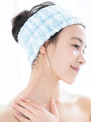 お風呂でできる簡単マッサージで顔痩せ