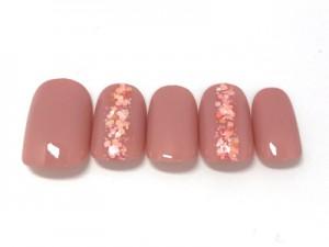 指先に桜の花びらが散るホログラムデザイン