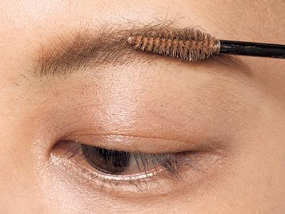 細い針金眉毛をふんわり眉に