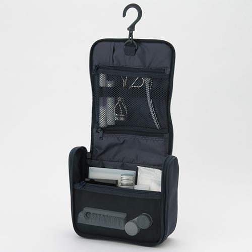ポリエステル吊るして使える洗面用具ケース 約16cm×19cm×6cm|¥1,590