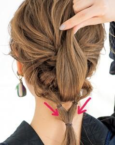 くるりんぱMIX編みでボリュームと華やかさがある下ろし髪アレンジ