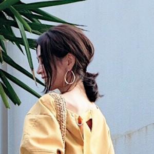 インスタグラマーchikako.hongoさんの美フォルムひとつ結び