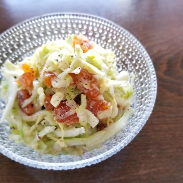 市田柿とキャベツの和風コールスロー