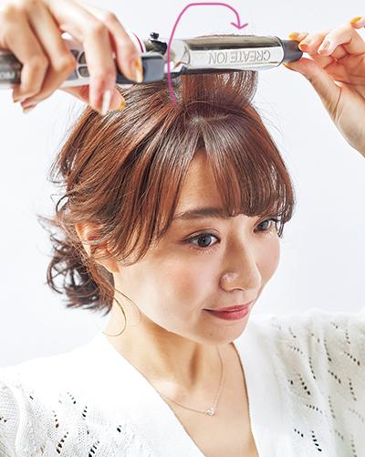 伸ばしかけの前髪も。かわいくみえるポニーテールのマル秘テク